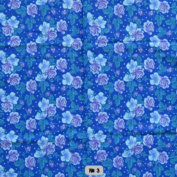 Тканина постільна донецький ситець-маленькі розочки на синьому