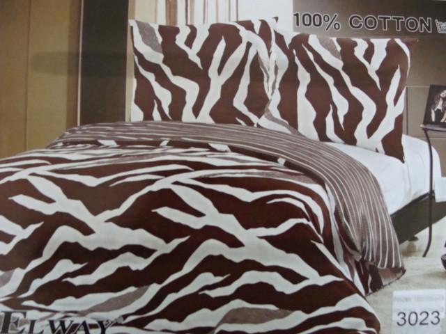 Сатиновое постельное белье семейное ELWAY 3023 - СК-текстиль в Харькове