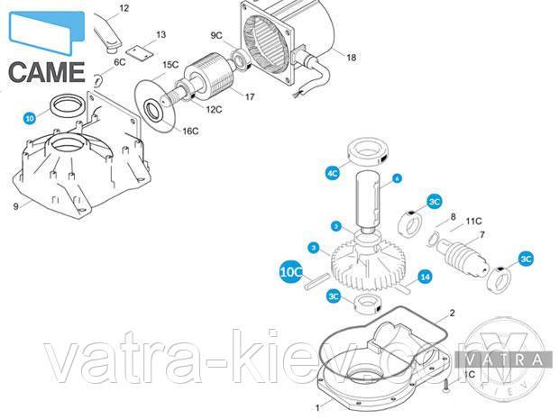 редуктор автоматики Came Frog 119ria015 купить цена