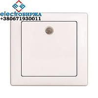 Выключатель DELUX WEGA 9121 1-кл. с подсветкой белый