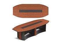 Офисный овальный стол для переговоров Эйдос 3500х1350х743 Е1.08.35