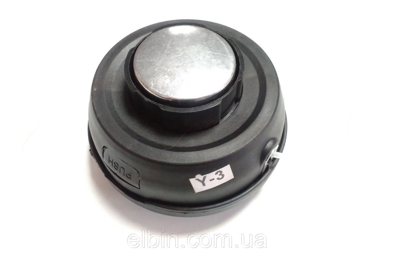 Котушка Y-3 з волосінню для тріммера напівавтомат з металевою кнопкою