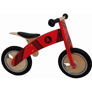 """Беговел 12"""" Kiddi Moto Kurve деревянный красный SKD-81-64"""