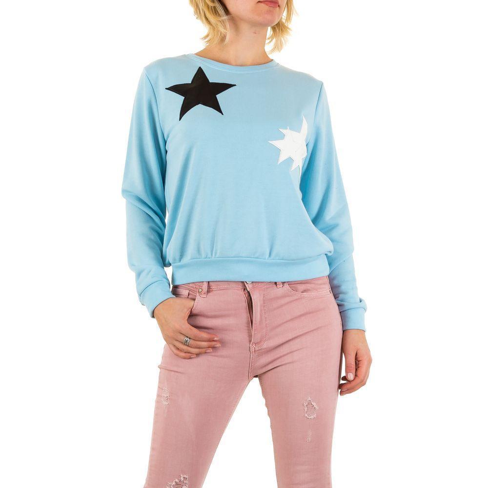 Женский свитшот со звездами на груди от производителя (Европа), Голубой
