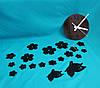 Настенные часы Бабочки black
