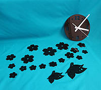 Настенные часы Бабочки black, фото 1