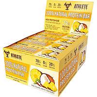 Батончик Athlete Genetics - 100% Natural Protein Bar (70 грамм)  pina colada-white chocolate/пина колада-белый шоколад