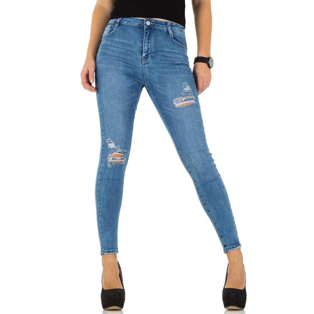 a38cb33238b7 Женские джинсы рваные от Laulia (Европа), Голубой купить оптом в Украине -  ...