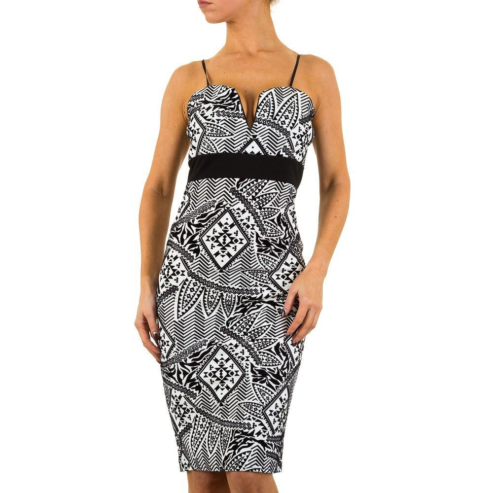 Женское платье Evita Gold, размер 40 - whiteblack - KL-E3026-whiteblack 40