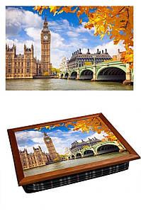 Поднос на подушке BST 040357 44*36 коричневый осенний Лондон