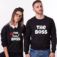 Парные свитшоты. Женский и мужской свитшот. The boss/ The real boss. Босс и реальный босс