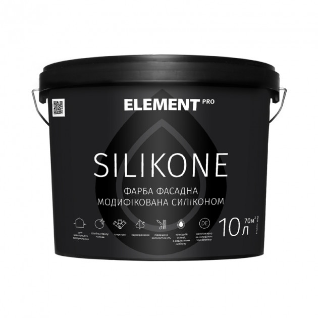 Силиконовая фасадная краска Element Pro Silicone 10л