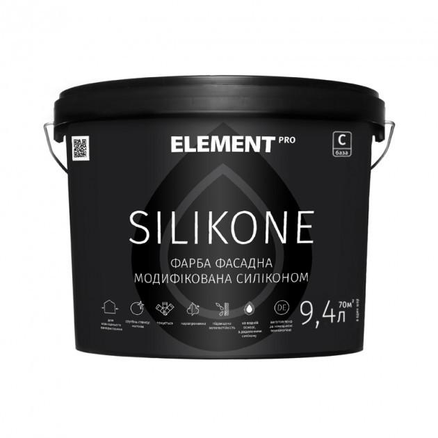 Силиконовая фасадная краска Element Pro Silicone 9,4л (База С) (Элемент Про Силикон)