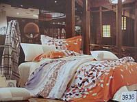 Сатиновое постельное белье евро ELWAY 3936