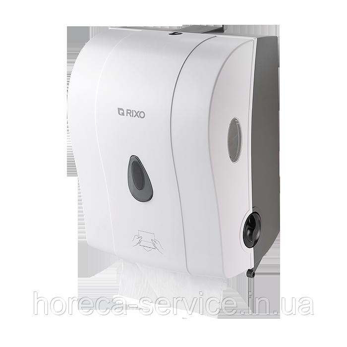 Диспенсер рулонных бумажных полотенец полуавтоматический Rixo Maggio P088W белый
