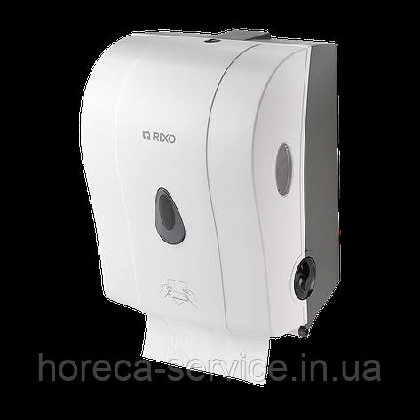 Диспенсер рулонных бумажных полотенец полуавтоматический Rixo Maggio P088W белый, фото 2