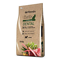 Fitmin cat Purity Dental полноценный корм для взрослых кошек с эффектом защиты ротовой полости ягненок, 10 кг
