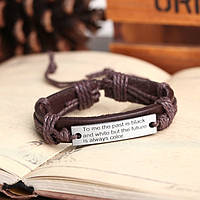 """Жіночий символічний браслет з написом """"To me the past"""", фото 1"""