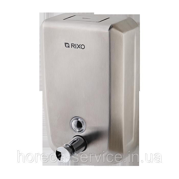 Диспенсер-дозатор металлический для жидкого мыла Rixo Solido S001