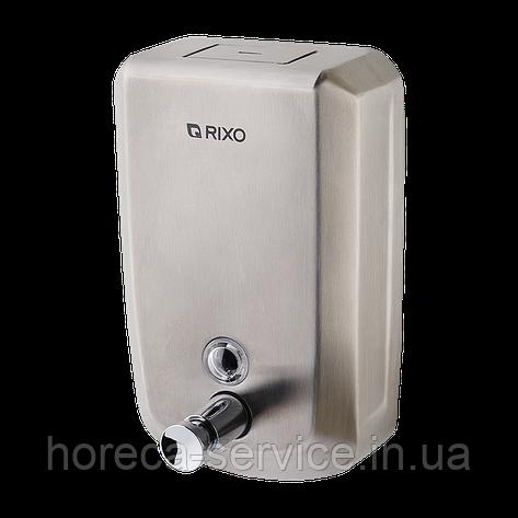 Диспенсер-дозатор металлический для жидкого мыла Rixo Solido S001, фото 2