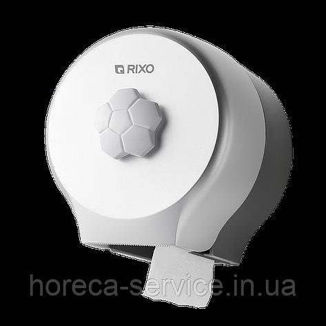 Диспенсер рулонной туалетной бумаги небольшой намотки Rixo Bello P127S белый, фото 2