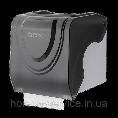 Диспенсер рулонной туалетной бумаги Rixo Bello P247TB черный, фото 2