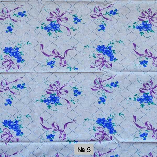 Тканина постільна донецький ситець-сині квіти в бантах