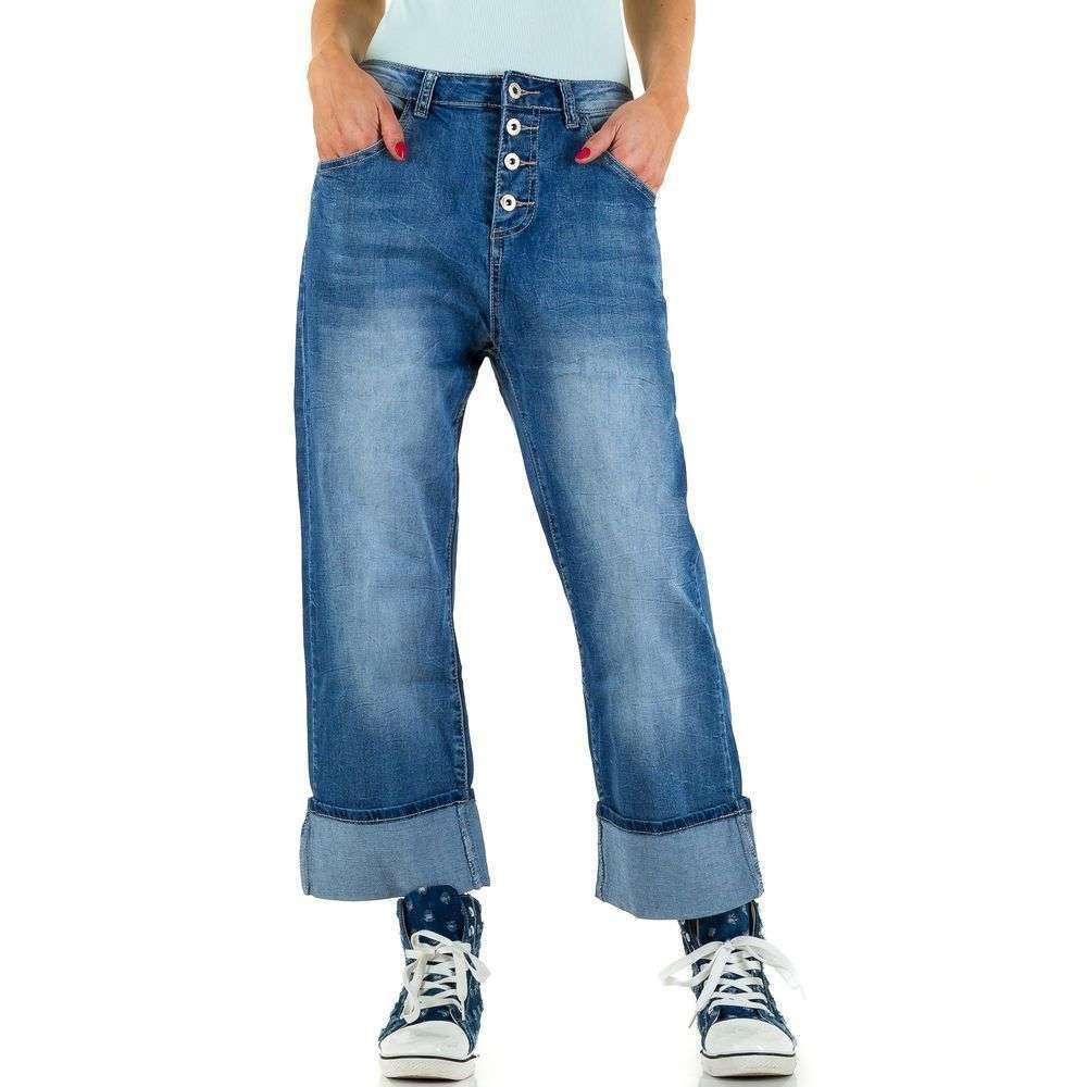 Женские джинсовые кюлоты с подкатом Place Du Jour (Франция) Синий