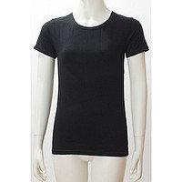 Топ футболка VK (корот.рукав) 32р. хлопок-92% лайкра 8% черный