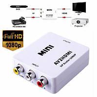 Конвертер відео AV в HDMI білий