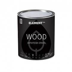 Акрилова емаль для дерева Element Pro Wood шовковисто-матова 0.75л