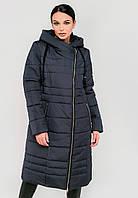 Длинная зимняя куртка косуха на силиконе с капюшоном Modniy Oazis синий 90320, фото 1