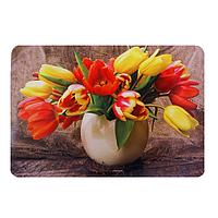 Подставка на стол, 40х27 см, пластик, разноцветный, тюльпаны