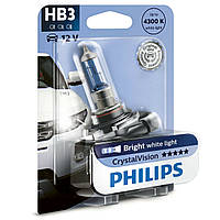 """Автомобильная галогенная лампа """"PHILIPS""""(HB3)(Crystal Vision)(4300K)(12V)(65W), фото 1"""