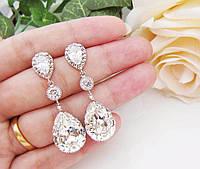 Свадебные серьги с кристаллами Сваровски – лучшие украшения для невесты