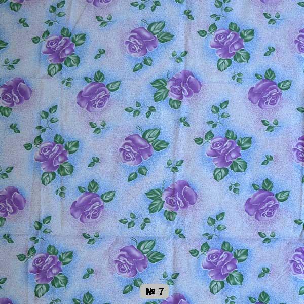 Тканина постільна донецький ситець-  фіолетова роза