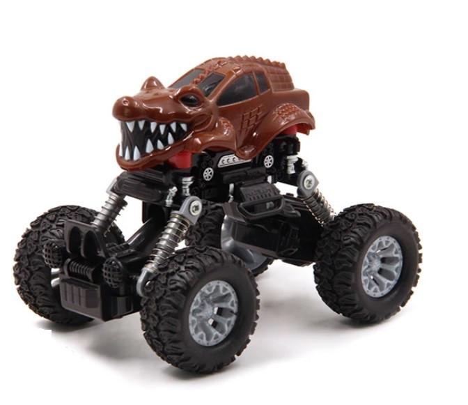 Інерційна іграшка KLX Monster Graffiti Off-Road дитячий автомобіль Коричневий (SUN3459)