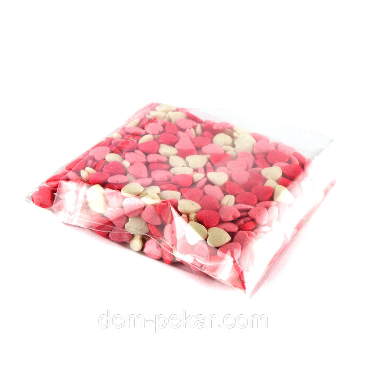Посыпка фигурная Сердечки красно-бело-розовые (50 гр.)