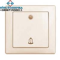 Выключатель DELUX WEGA 9126 звонок с подсветкой белый