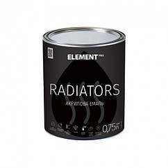 Акриловая эмаль радиаторная Element Pro Radiators 0.75л