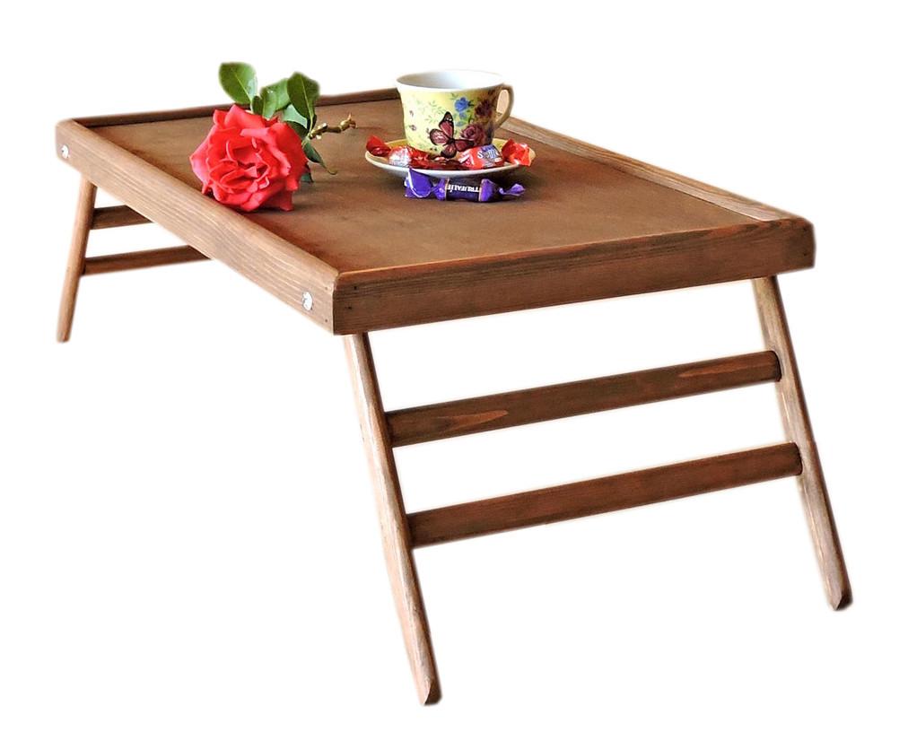Поднос для завтрака в постель  Техас Делюкс  цвет - капучино  деревянный  раскладной столик