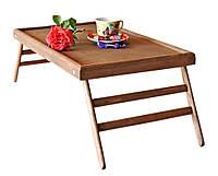 Поднос для завтрака в постель  Техас Делюкс  цвет - капучино  деревянный  раскладной столик, фото 1