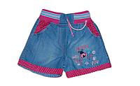 Детские джинсовые шорты для девочки с божьей коровкой и горошками Турция