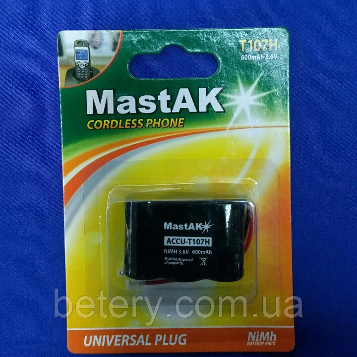 Аккумулятор к стационарному телефону MastAKT107H 3,6v 600mAh Cd