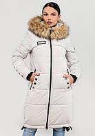 Длинная женская зимняя куртка с мехом на силиконе Modniy Oazis белый 90322/2