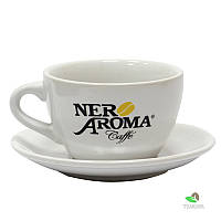 Чашка с блюдцем Капучино 350 мл Nero Aroma