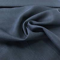 Лён черно-синий, ширина 150 см, фото 1