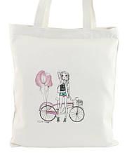 Женская сумка из текстиля Traum 7011-65, с принтом, белая