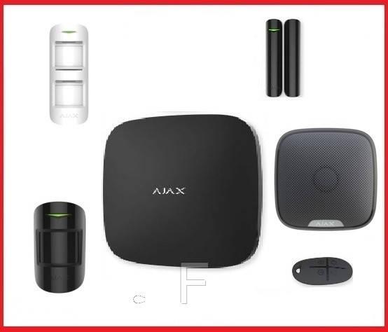 Комплект беспроводной сигнализации  для уличной территории  Ajax  (Black)