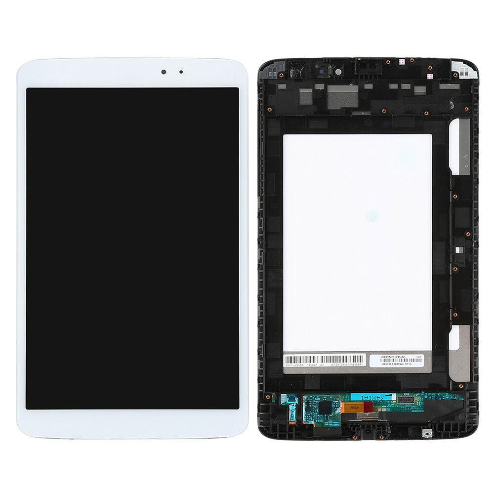 Дисплей (экран) для планшета LG V500 G Pad 8.3 с сенсором (тачскрином) и рамкой белый